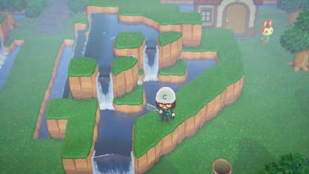 斜めの滝は作れない