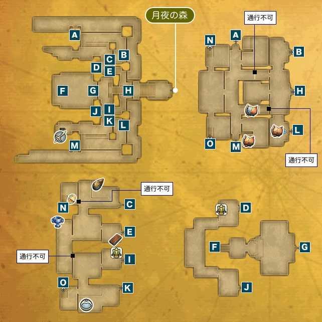 ビーストキングダムIのマップ
