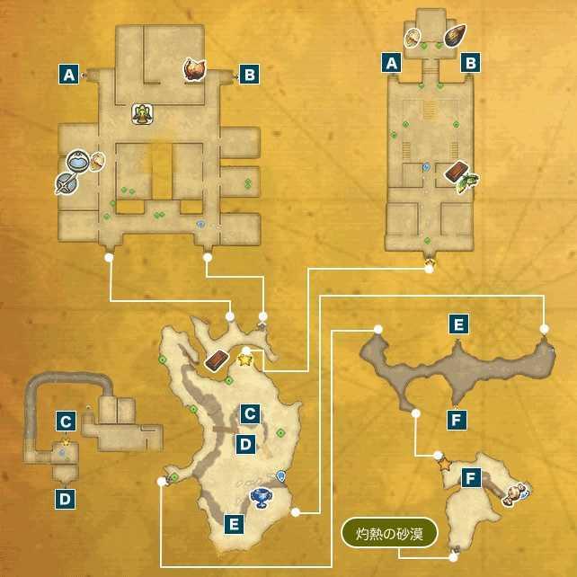 砂の要塞ナバールI-aのマップ