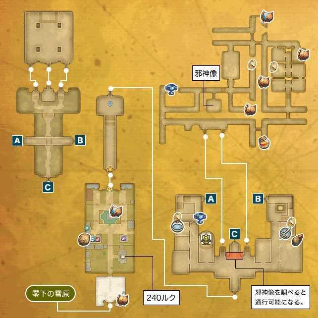 魔法王国アルテナのマップ