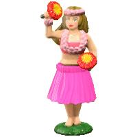 フラダンスにんぎょうのピンクの画像