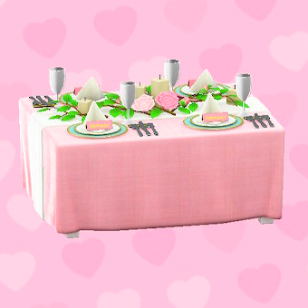 ウェディングなテーブル