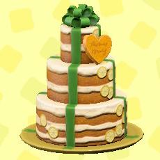 ウェディングケーキのガーデンの画像