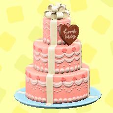 ウェディングケーキのキュートの画像