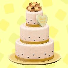 ウェディングケーキのシックの画像