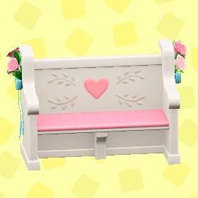ウェディングなベンチのキュートの画像