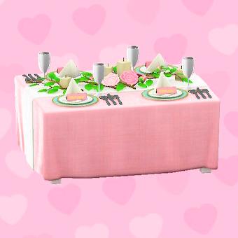 ウェディングなテーブル画像