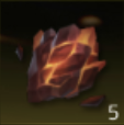 炎上の岩の画像