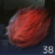 真赤な毛の画像