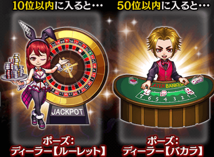 勝負の闇カジノのランキング報酬の画像