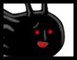 なめ(黒)の画像