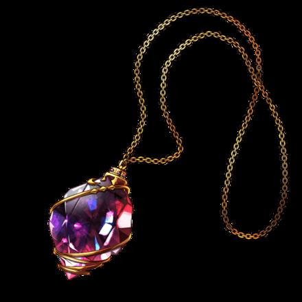 紫聖石のアミュレットの画像
