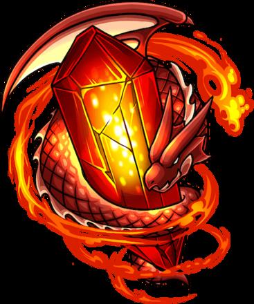 猛炎の龍封石の全体図