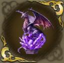 佇む地竜像・紫の画像
