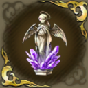 祈る天使像・紫の画像