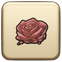さばくの赤バラ
