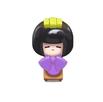 紫日本人形