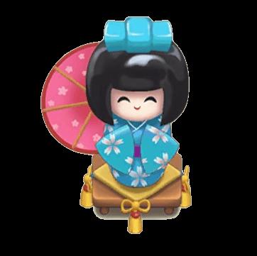 青日本人形