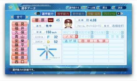 菅原秀のステータス画像