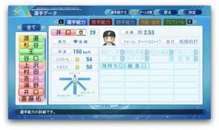 井口和朋のステータス画像