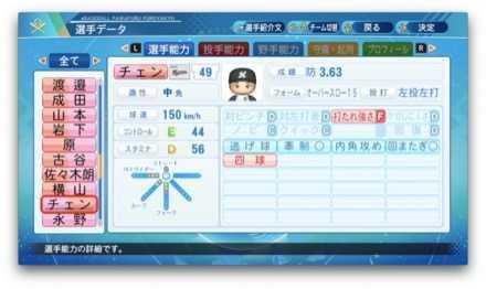 チェングァンユウのステータス画像