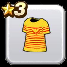 ボーダーTシャツ・黄