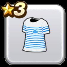 ボーダーTシャツ・青