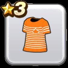 ボーダーTシャツ・橙