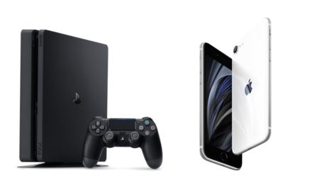 PS4とスマホの画像