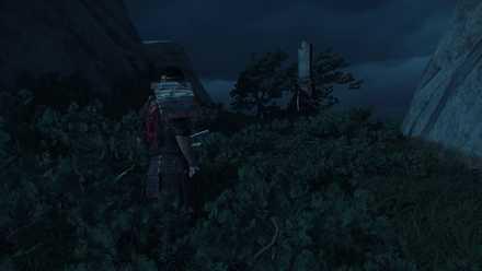 ゴーストオブツシマの防人の高台の石碑