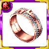 フィファニーの指輪【ピンク×ダイヤ】の画像