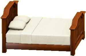 アンティークなベッド画像