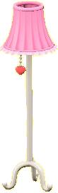 キュートなフロアランプ画像