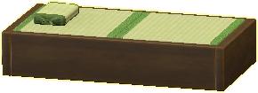 タタミのベッドの画像