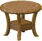 ラタンのサイドテーブル画像