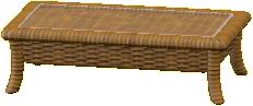ラタンのローテーブル画像