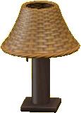 ラタンのテーブルランプ画像