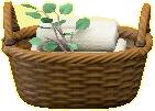 ラタンのタオルバスケット画像
