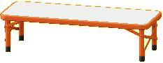 アウトドアベンチのオレンジ(座面)の画像