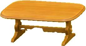 アンティークなテーブルのナチュラルの画像