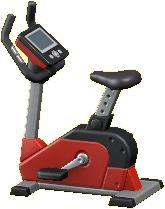 エクササイズバイクのレッドの画像