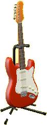 エレキギターES1のファイアーレッドの画像