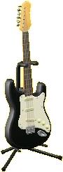エレキギターES1のコスモブラックの画像