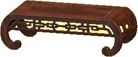 オリエンタルなローテーブルのブラウンの画像
