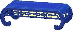 オリエンタルなローテーブルのブルーの画像