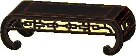 オリエンタルなローテーブルのブラックの画像
