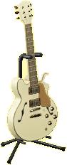 エレキギターES2のシックホワイトの画像