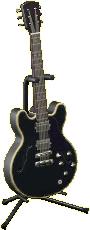 エレキギターES2のコスモブラックの画像