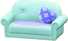 キュートなソファのスカイブルーの画像
