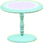 キュートなティーテーブルのスカイブルーの画像